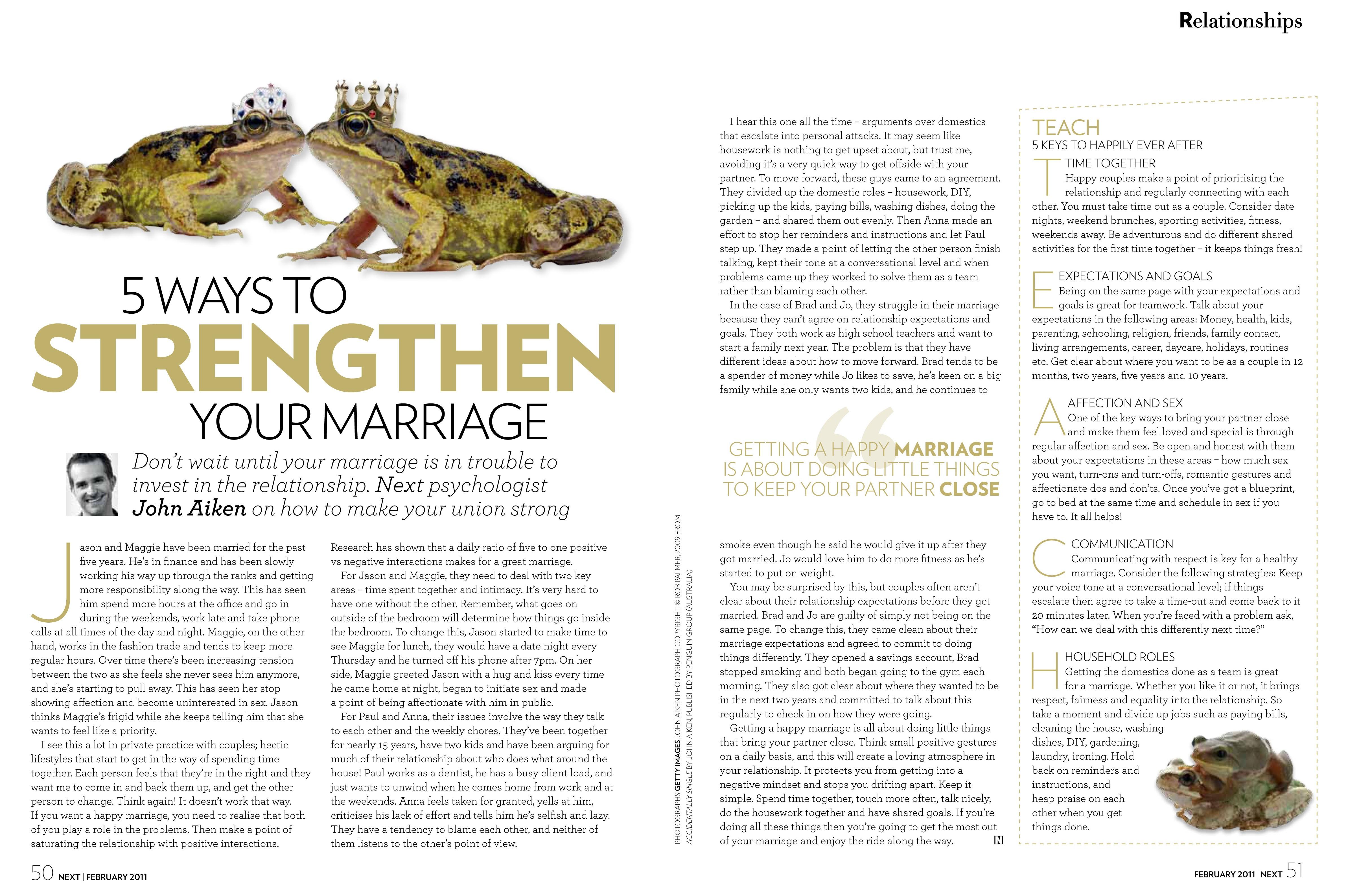 5 Ways To Strengthen Your Marriage - John Aiken